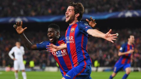 """Barcelona had the PSG players staggering back onto the ropes and, with more or less the final kick of the game, Sergi Roberto scored the goal that would <a href=""""http://edition.cnn.com/2017/03/08/football/barcelona-psg-reactions/"""">reverberate around the world.  </a>"""