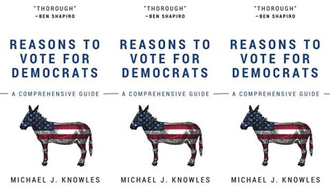 """Michael J. Knowles' self-published book """"Reasons To Vote For Democrats"""" is the number 1 book on Amazon's best sellers list"""