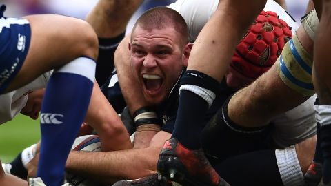 At last Gordon Reid gave Scotland cause for celebration after going over for a try.