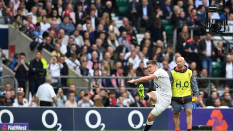 Owen Farrell had been in a doubt for England after suffering a dead leg in training ahead of the Scotland game. His left leg might have been heavily strapped, but his kicking was unimpeded and Farrell rattled over four penalties and seven conversions.