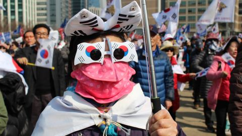 """Thousands of South Koreans took to the streets of Seoul Saturday after President Park Geun-hye was officially impeached. While polls suggest most of the country -- as many as 80% -- supports the move, a small minority of demonstrators said they wanted to """"impeach the impeachment."""""""
