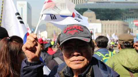 """""""Young people don't understand,"""" said Song Bok-sung, 80, who was protesting Park's impeachment. """"We remember the (Korean War) and how bad it can get."""""""