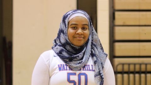 Je'Nan Hayes played 24 games with a hijab, but was excluded from her team's final contest.