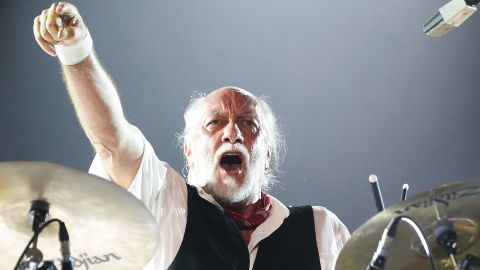Mick Fleetwood of The Mick Fleetwood Blues Band performs live for fans at the 2016 Byron Bay Bluesfest on March 25, 2016 in Byron Bay, Australia.