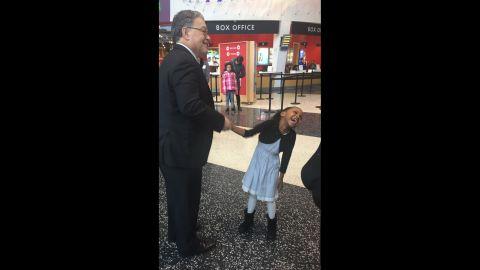 Sen. Al Franken of Minnesota met Mushkaad Abdi on Thursday.