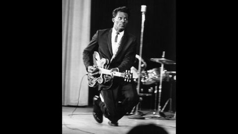 Chuck Berry performs in 1966.