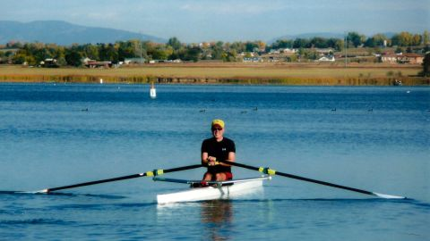 This photo provided by the Gorsuch family shows the judge rowing.