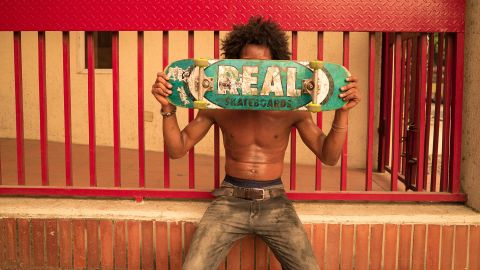 """Despite the challenges of skating in Lagos Marcus Bello explained that passersby """"intrigued"""" when they see the crew in their boards, """"it's a sport that just keeps people glued."""" <br /><br />Photo: Amarachi Nwosu"""