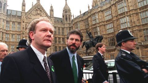 McGuinness and Adams were hugely influential the Northern Ireland peace process.