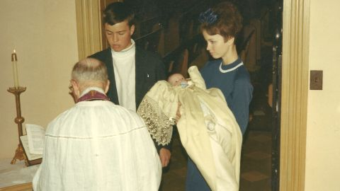 Gorsuch was born August 29, 1967, in Denver. Here, his aunt holds him at his baptism.