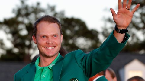 AUGUSTA, GEORGIA - APRIL 10:  Danny Willett of England celebrates with the green jacket after winning the final round of the 2016 Masters Tournament at Augusta National Golf Club on April 10, 2016 in Augusta, Georgia.  (Photo by Kevin C. Cox/Getty Images)