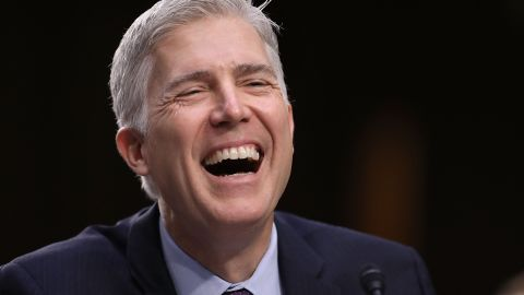 WASHINGTON, DC - MARCH 21:  Judge Neil Gorsuch testifies during the second day of his Supreme Court confirmation hearing before the Senate Judiciary Committee in the Hart Senate Office Building on Capitol Hill March 20, 2017 in Washington, DC. Gorsuch was nominated by President Donald Trump to fill the vacancy left on the court by the February 2016 death of Associate Justice Antonin Scalia.  (Photo by Chip Somodevilla/Getty Images)