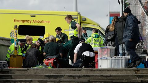 Medical aid is provided outside Parliament.