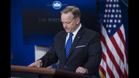 White House Press Secretary Sean Spicer attends his daily press briefing at the White House on Wednesday, March 22.