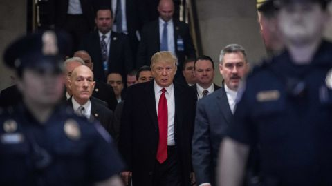 """President Trump arrives to meet with House Republicans about the new health care legislation at the Capitol on Tuesday, March 21, just days before the <a href=""""http://www.cnn.com/2017/03/24/politics/house-health-care-vote/index.html"""" target=""""_blank"""">bill collapsed</a>."""