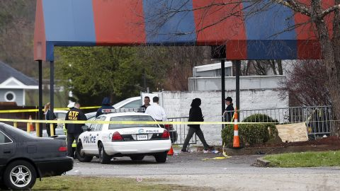 Members of the ATF and local police work at the Cameo nightclub Sunday.
