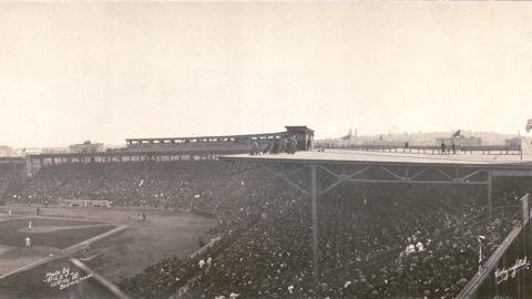"""Boston's Fenway Park, which opened in 1912, is one of the """"jewel box"""" ballparks, a style that was popular from the late 1800s to the early 1900s."""