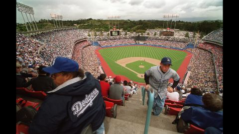 """Dodger Stadium in Los Angeles signaled the """"modern"""" era in building ballparks specifically for baseball. Built in 1962, it's the third-oldest MLB stadium still in use."""