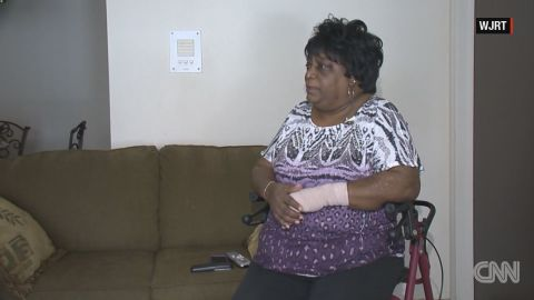 """Helena """"Vicky"""" Jones, of Flint, is shown during a January 2016 interview about the city's water crisis with CNN affiliate WJRT."""
