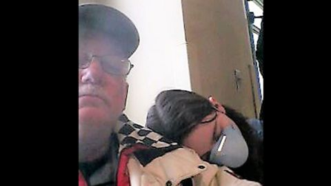 The last photo Shannon's parents have of her was taken with her father at a clinic waiting for treatment.