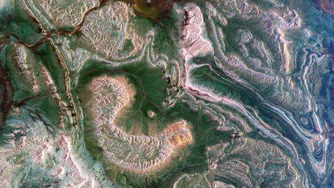 This radar image from 1999 shows the Atlas mountains and parts of Morocco.