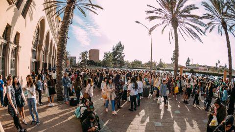 Outside SHINee's Los Angeles show