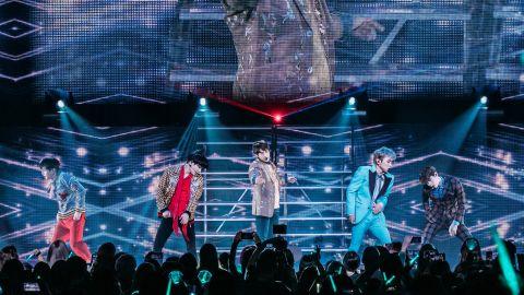 K-pop group SHINee in Los Angeles