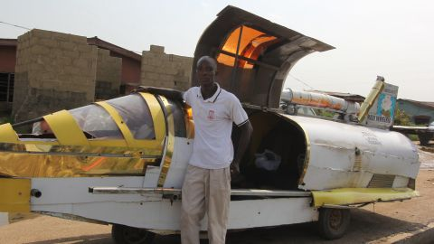 """It's been the dream of sci-fi enthusiasts and inventors for decades, but has this Nigerian man created a flying jet car that can dodge traffic? Kehinde Durojaiye, or """"Kenny Jet"""", is attempting to build an aero-amphibious jet car. He's driven it on sea and land. Now it's only the air that he has left to conquer. <br /><br /><a href=""""http://edition.cnn.com/2017/04/07/africa/jet-car-nigerian-inventor-flying/index.html"""" target=""""_blank"""">Find out</a> more about the potential of this flying car."""