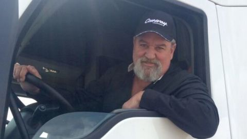 Truck driver, Kevin Kimmel regularly speaks to other truckers about his experience of finding a trafficking victim.