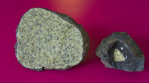 Peridotite is a rock that's believed to make up the Earth's mantle.