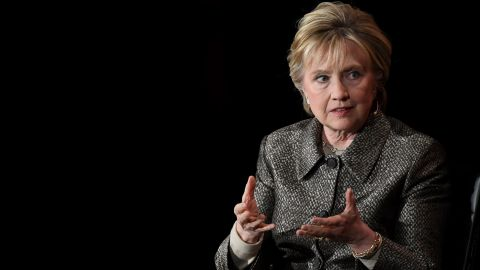 Former US Secretary of State Hillary Clinton speaks at the Eighth Annual Women in the World Summit at Lincoln Center for the Performing Arts on April 6, 2017, in New York City.