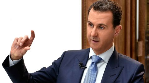 epa05892158 A handout photo made available by the official Syrian Arab News Agency (SANA) on 06 April 2017 shows Syrian President Bashar al-Assad speaking during an interview with Croatian newspaper Vecernji List (Evening paper) in Damascus, Syria 03 April 2017.  EPA/SANA HANDOUT  HANDOUT EDITORIAL USE ONLY/NO SALES