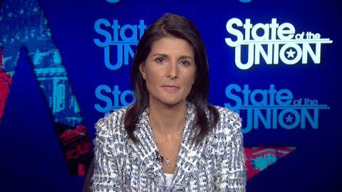 Jake Tapper interviews UN Ambassador Nikki Haley.