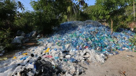 """<a href=""""http://www.eunomia.co.uk/reports-tools/plastics-in-the-marine-environment/"""" target=""""_blank"""" target=""""_blank"""">Reports</a> show that eight million tons of plastic enter the oceans every year."""