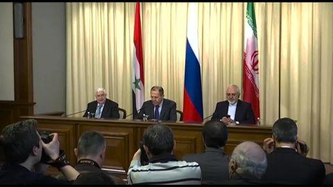 Syrian Iran russia FM meet chance lkl_00003305.jpg