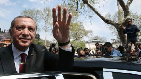 Erdogan praised Trump for the US attack on a Syrian airfield.