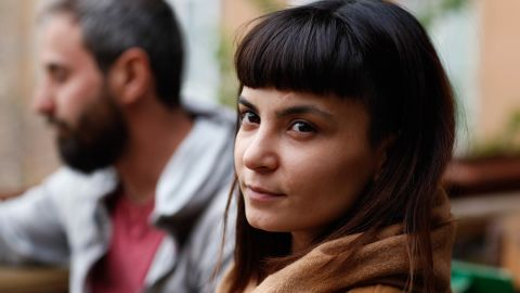 Merve Semerci, a 32-year-old art student at a cafe in Ankara on April 17 2017