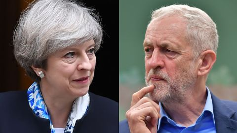 Prime Minister Theresa May's chief rival in the June 8 election is Labour leader Jeremy Corbyn.