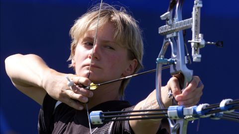 """<a href=""""https://worldarchery.org/athlete/367/cornelia-pfohl"""" target=""""_blank"""" target=""""_blank"""">Cornelia Pfohl</a>, a German archer, competed in the Olympics two times while pregnant. She had already won a silver medal at the 1996 Atlanta Games when she arrived at the 2000 Olympics early in her pregnancy. In the Sydney Games, she won bronze. Four years later at the Athens Games, she competed while seven months pregnant, though she did not win one of the top prizes."""