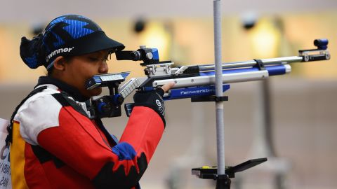 """Sharpshooter Nur Suryani Mohd Taibi competed for Malaysia while eight months pregnant. <a href=""""https://www.sportskeeda.com/shooting/malaysian-mum-to-be-targets-olympic-shooting-gold"""" target=""""_blank"""" target=""""_blank"""">Before the 2012 games, she told AFP</a> that the added weight of carrying her first child brought her added stability in her shooting stance."""