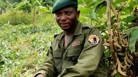 """Rodrigue Mugaruka Katembo was forced to be a child soldier in the armed conflict that has engulfed the Democratic Republic of Congo for the past few decades. <br /><br />Today, as a ranger he risks his life to protect Congo's critically endangered species. He's one of six recipients of this year's prestigious <a href=""""http://www.goldmanprize.org/prize-recipients/current-recipients/"""" target=""""_blank"""" target=""""_blank"""">Goldman Environmental Prize</a>. <br /><br />Pictured: Katembo during an anti-poaching operation in Virunga National Park."""