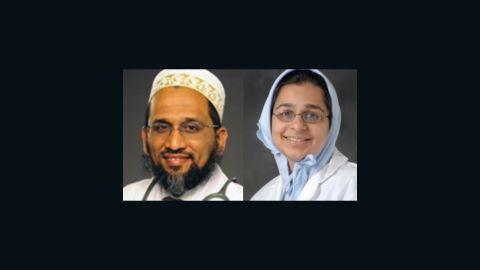 Dr. Fakhruddin Attar (left),  Dr. Jumana Nagarwala