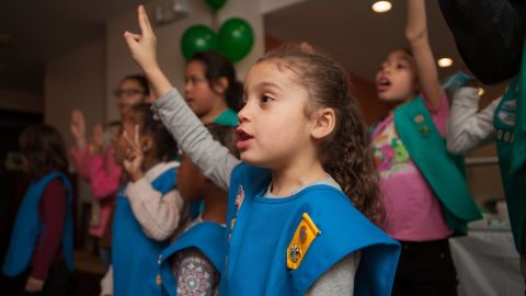 The Girl Scouts of Greater New York is covering the cost for the girls.