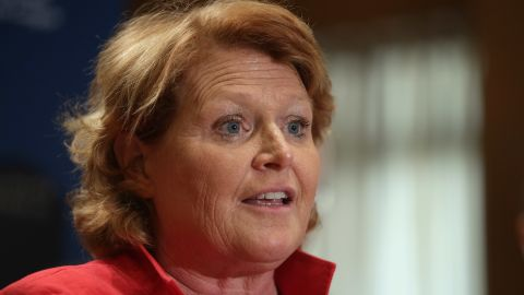 WASHINGTON, DC - APRIL 23:  Sen. Heidi Heitkamp (D-ND) participates in a news conference about the Marketplace Fairness Act in the Dirksen Senate Office Building on Capitol Hill April 23, 2013 in Washington, DC. (Photo by Chip Somodevilla/Getty Images)