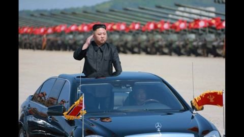 North Korean Leader Kim Jong Un guides live fire drills in Wonsan, North Korea, to mark the 85th anniversary of the Korean Peopleís Armyís founding, according to North Korean State Media.