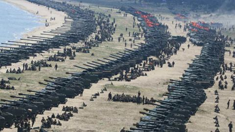 Live fire drills took place Tuesday, April 25 in Wonsan, North Korea, to mark the 85th anniversary of the Korean People's  Army founding, according to North Korean state media.