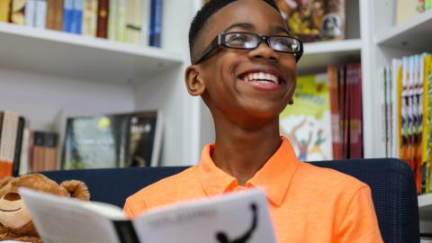 Sidney Keys started a book club to share his love for reading with kids like himself.