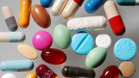 A picture taken on September 13, 2012 in Paris shows pills. According to a book written by Necker institute director Philippe Even and Paris MP Bernard Debre, one prescription in two is useless, and costs the French social security 15 billion euros.             AFP PHOTO / MIGUEL MEDINA        (Photo credit should read MIGUEL MEDINA/AFP/GettyImages)
