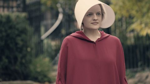 """Elisabeth Moss as Offred in Hulu's """"The Handmaid's Tale."""""""