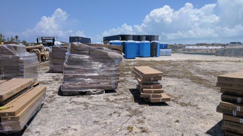 A view of the Fyre Festival grounds, captured by an attendee.